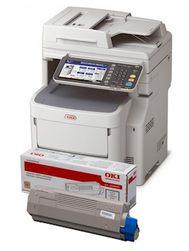 OKI MC780 consumables supplies, Black, Cyan, Magenta and yellow Toner and Drum cartridges, Fuser Units and Transfer Belts supplied for next day nationwide delivery call 01293 537827 for pricing and availability.